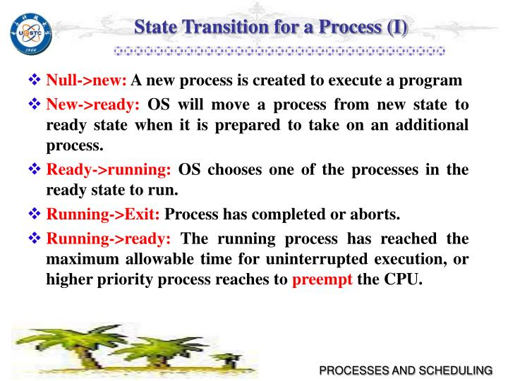 State Transition for a Process (I)