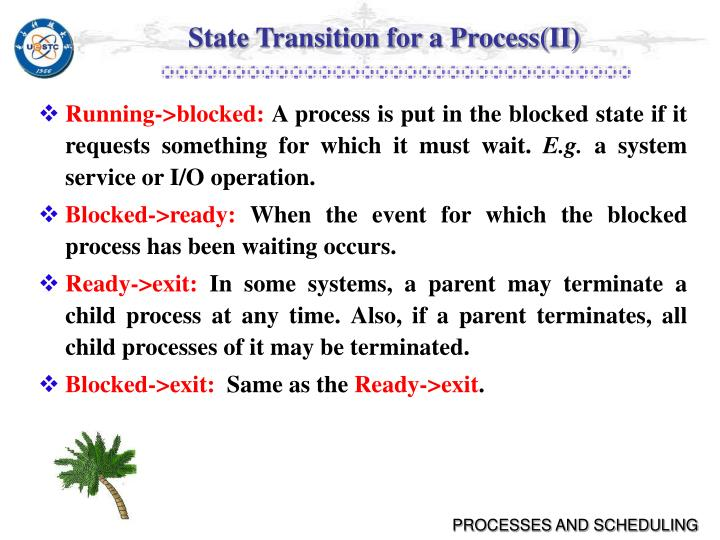 State Transition for a Process(II)