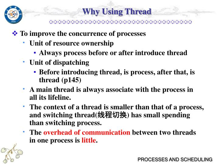 Why Using Thread