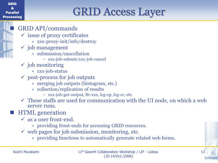 GRID Access Layer