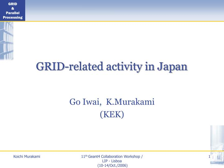 Grid related activity in japan