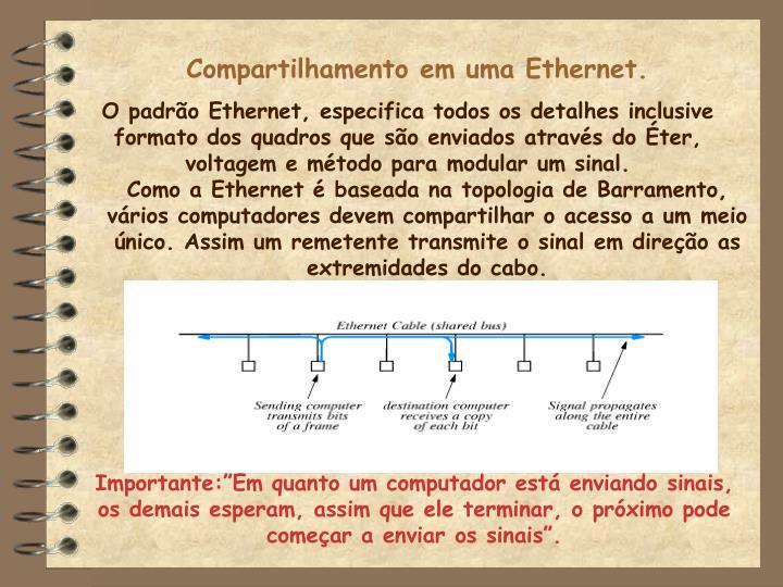 Compartilhamento em uma Ethernet.