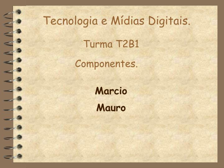 Tecnologia e Mídias Digitais.