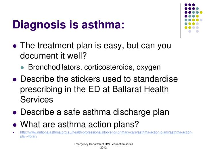 Diagnosis is asthma: