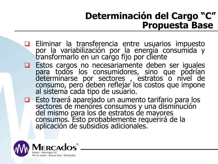 """Determinación del Cargo """"C"""""""