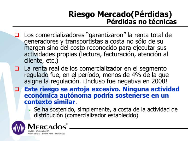 Riesgo Mercado(Pérdidas)