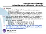 riesgo pass through asimetr as entre establecido y entrante1