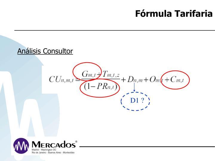 Fórmula Tarifaria