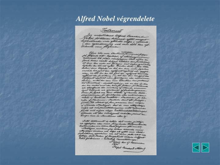 Alfred Nobel végrendelete