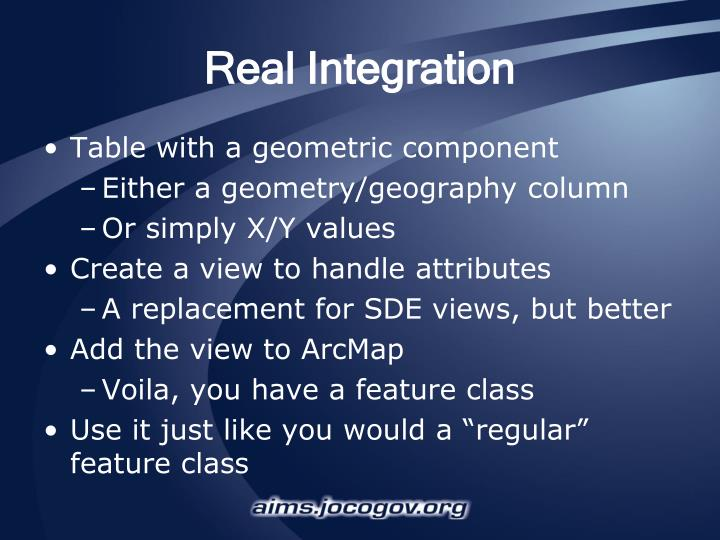 Real integration