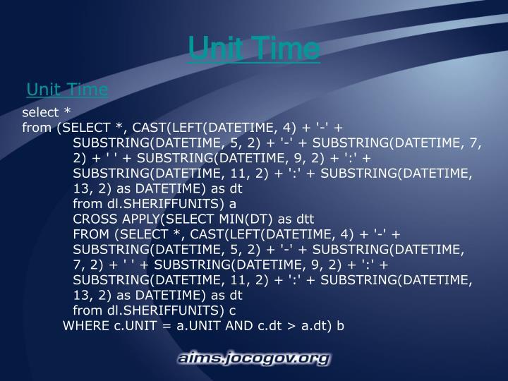 Unit Time