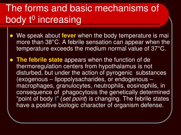The forms and basic mechanisms of