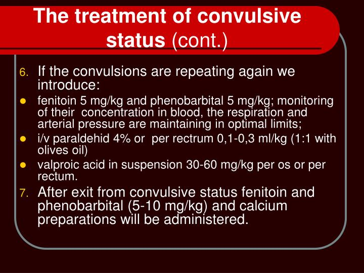 The treatment of convulsive status