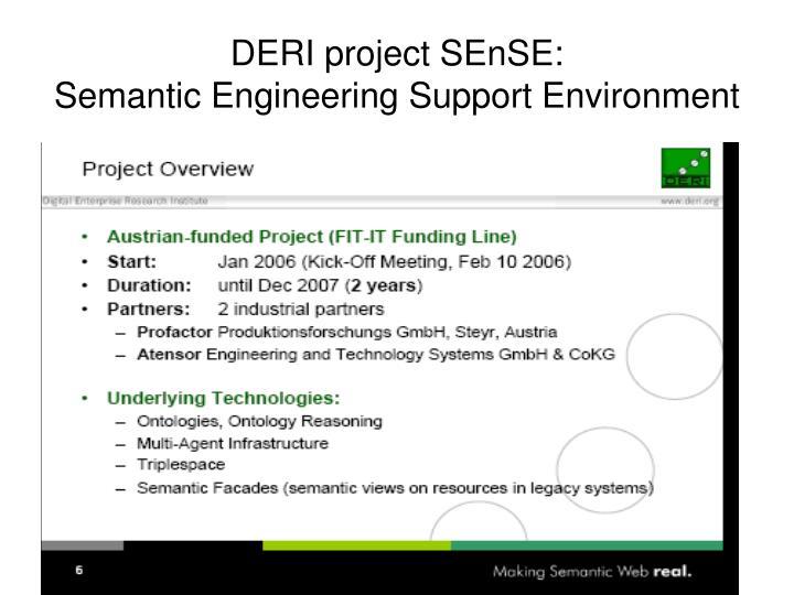 DERI project SEnSE: