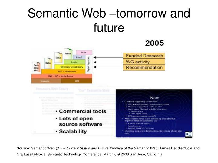 Semantic Web –tomorrow and future