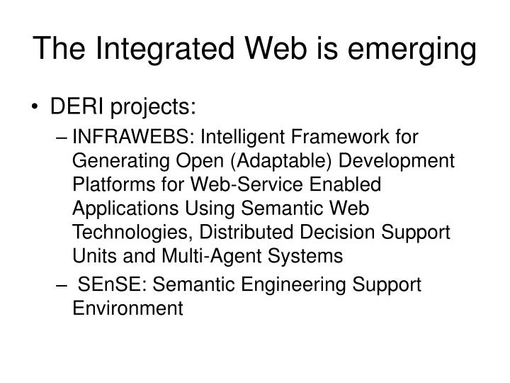 The Integrated Web is emerging