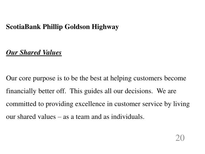ScotiaBank Phillip Goldson Highway