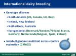 international dairy breeding