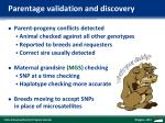 parentage validation and discovery