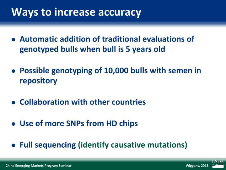 Ways to increase accuracy