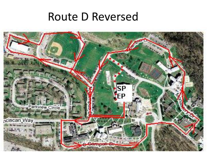 Route D Reversed