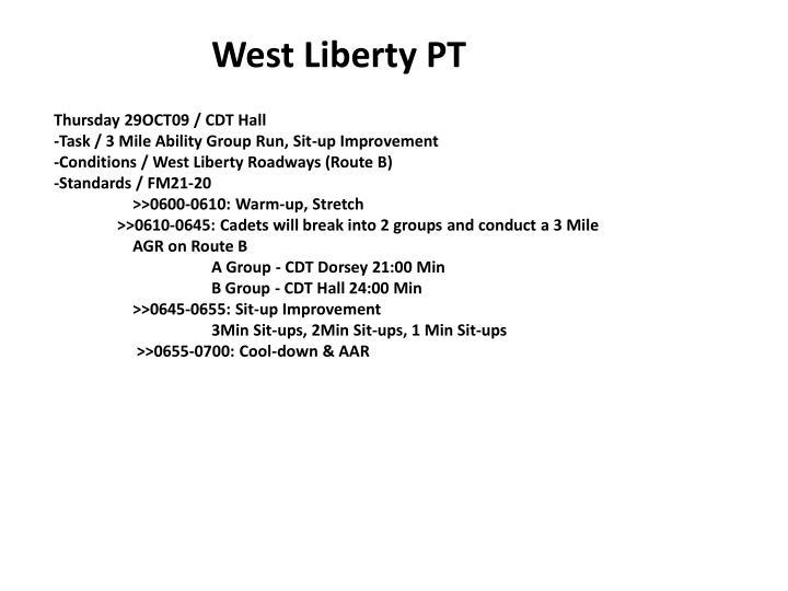 West Liberty PT