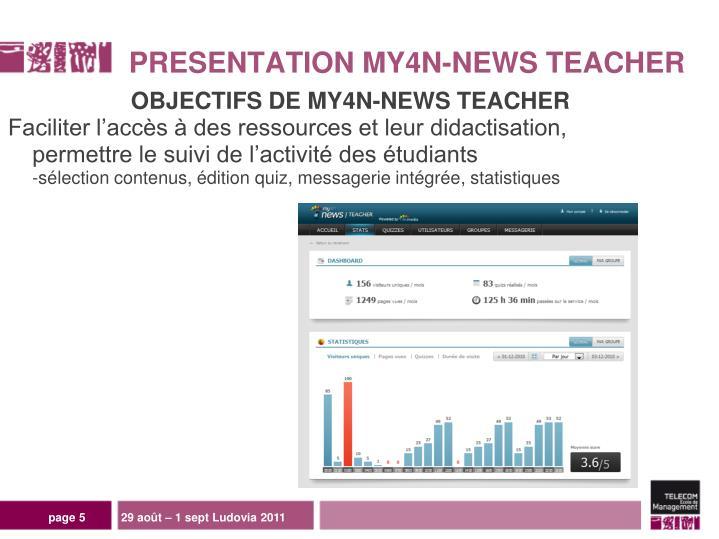 OBJECTIFS DE MY4N-NEWS TEACHER