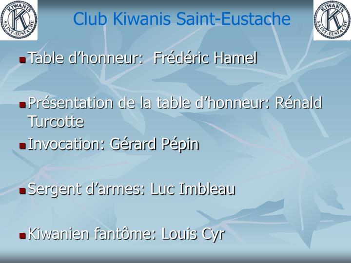Club Kiwanis Saint-Eustache