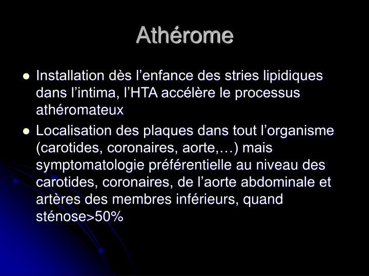 Athérome