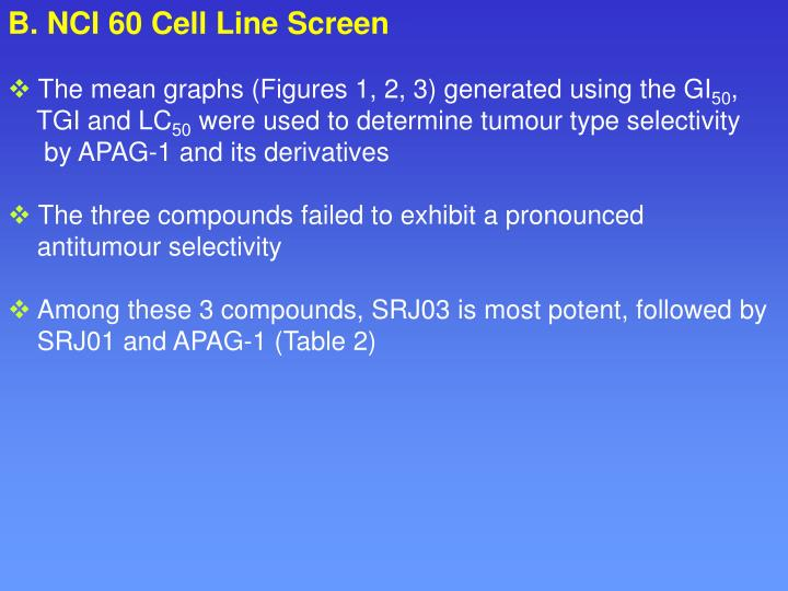 B. NCI 60 Cell Line Screen
