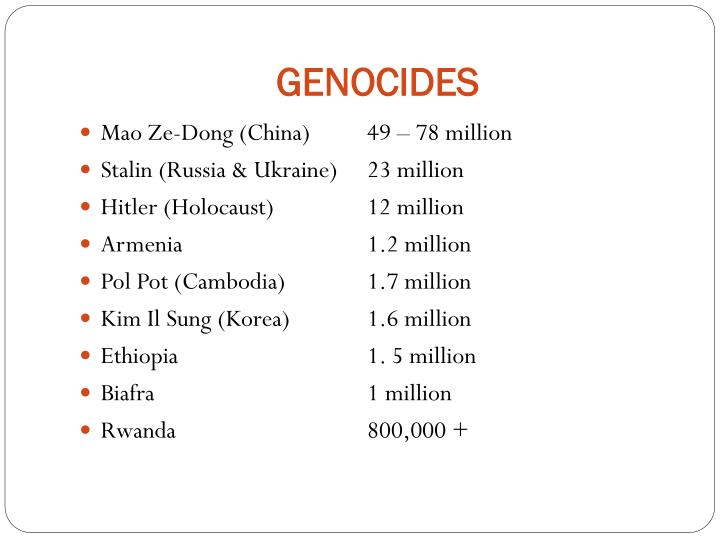 GENOCIDES