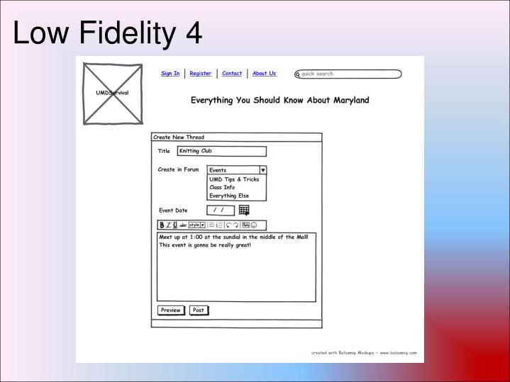 Low Fidelity 4