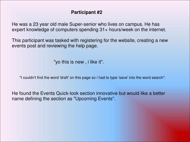 Participant #2