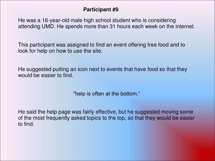 Participant #9