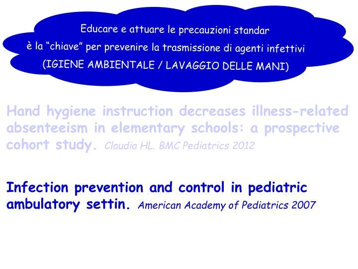 Educare e attuare le precauzioni standar