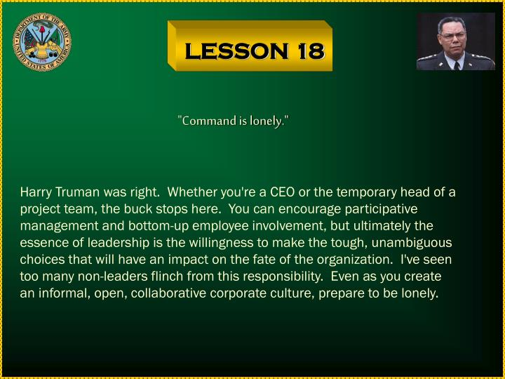 LESSON 18