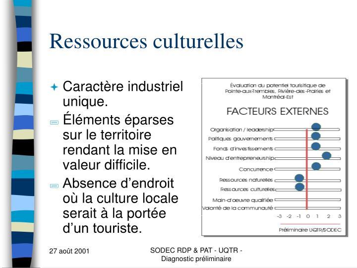 Ressources culturelles