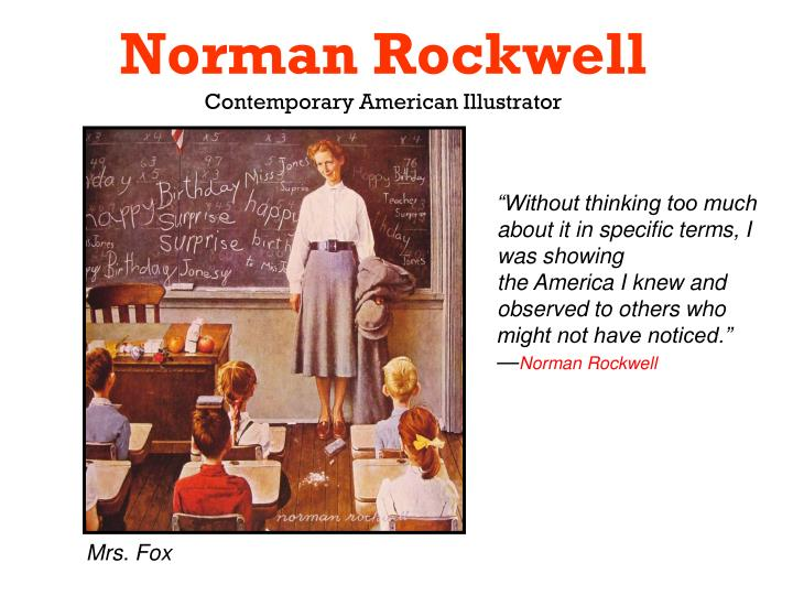 Norman rockwell contemporary american illustrator