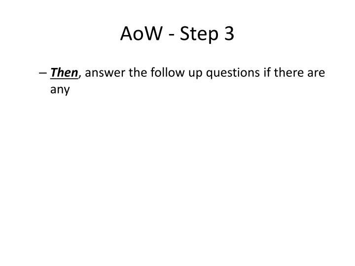 AoW - Step 3