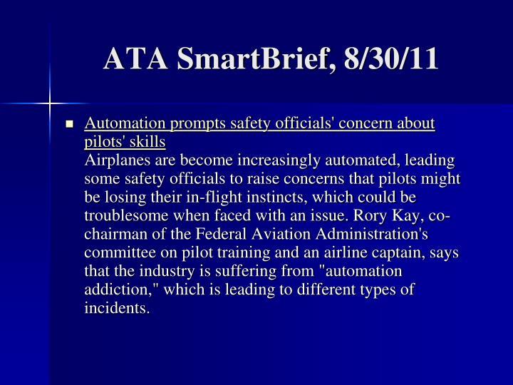 ATA SmartBrief, 8/30/11
