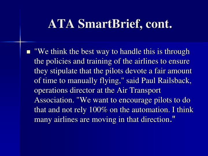 ATA SmartBrief, cont.