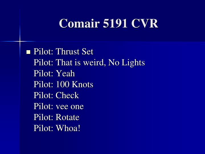 Comair 5191 CVR