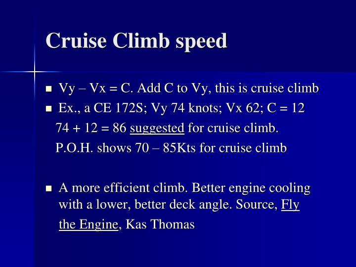 Cruise Climb speed