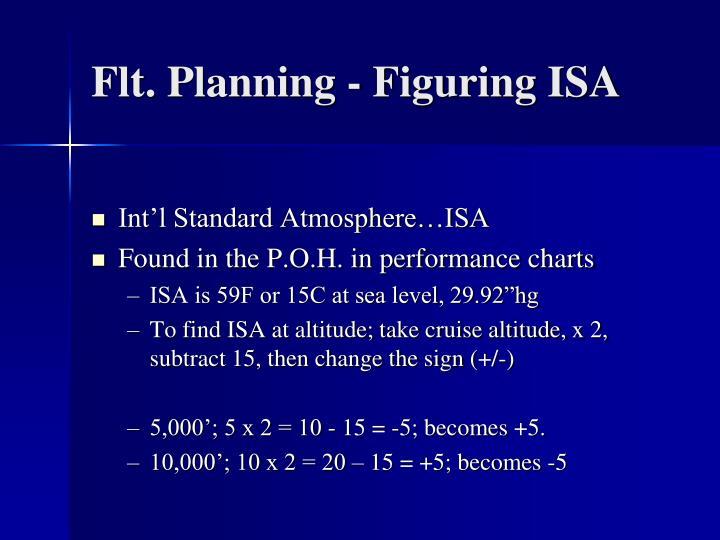 Flt. Planning - Figuring ISA