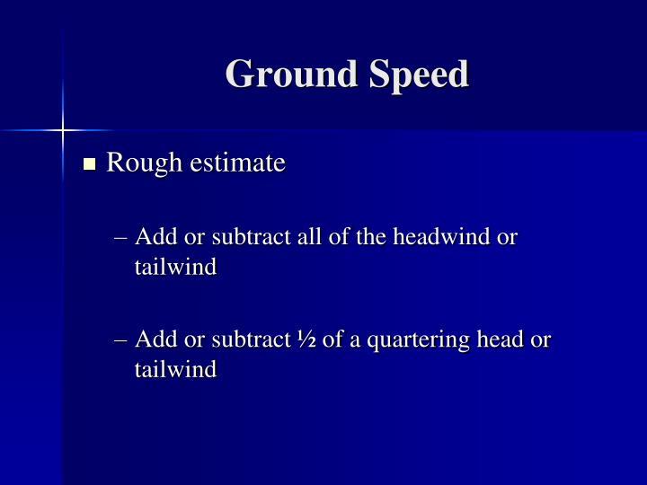Ground Speed