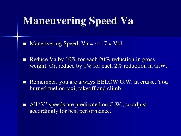 Maneuvering Speed Va
