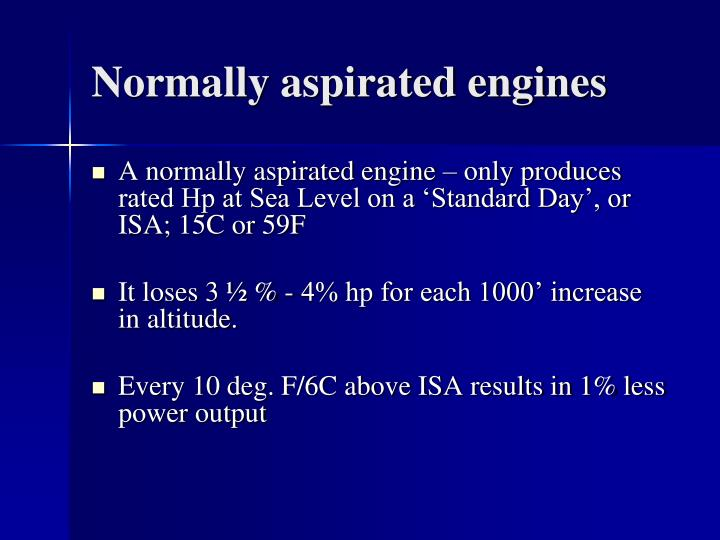 Normally aspirated engines