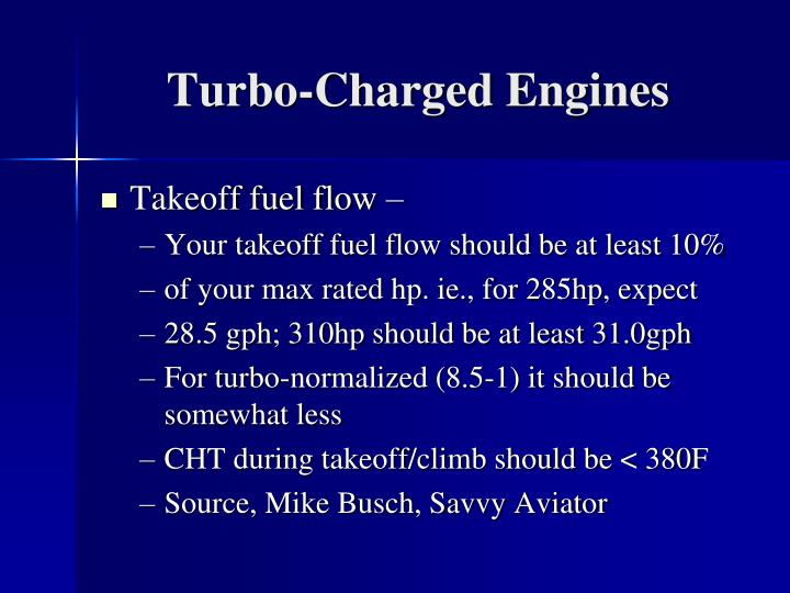 Turbo-Charged Engines
