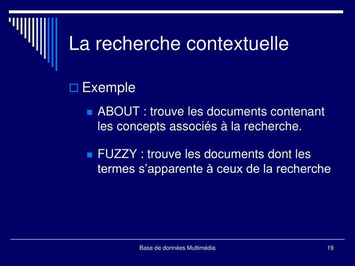 La recherche contextuelle
