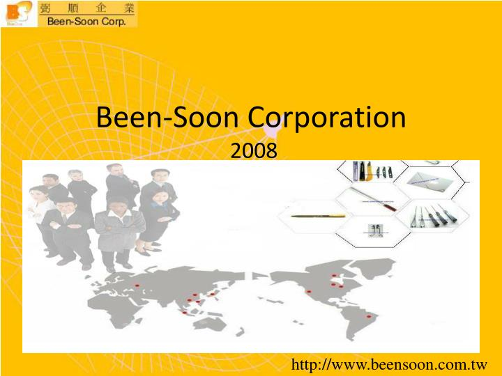 been soon corporation 2008